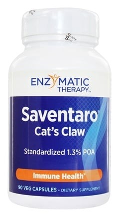 Enzymatic Therapy - Saventaro Max-Strength Cat's Claw - 90 Vegetarian Capsules