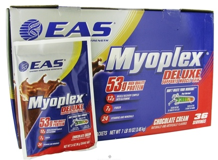 DROPPED: EAS - Myoplex Deluxe Protein Chocolate Cream - 36 Packet(s) CLEARANCE PRICED
