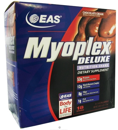 DROPPED: EAS - Myoplex Deluxe Protein Chocolate Cream - 18 Packet(s)