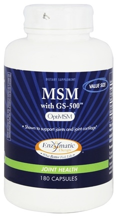 DROPPED: Enzymatic Therapy - MSM with GS-500 Value Size - 180 Capsules