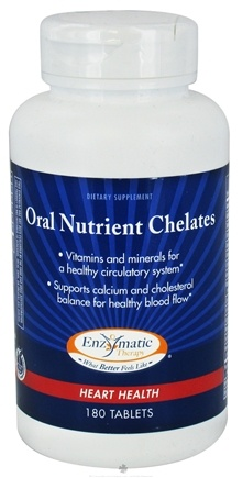 DROPPED: Enzymatic Therapy - Oral Nutrient Chelates - 180 Tablets