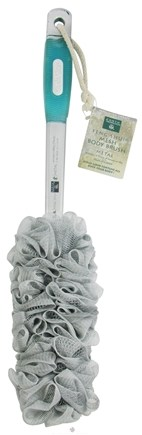 DROPPED: Earth Therapeutics - Feng Shui Mesh Body Brush with Ergonomic Grip Handle Silver/Metal - CLEARANCE PRICED