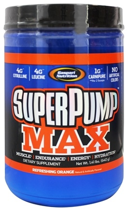 DROPPED: Gaspari Nutrition - SuperPump MAX Pre-Workout Formula Refreshing Orange - 1.41 lbs.