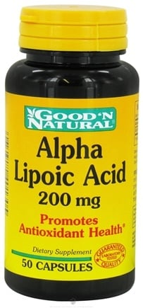 DROPPED: Good 'N Natural - Alpha Lipoic Acid 200 mg. - 50 Capsules CLEARANCE PRICED