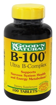 DROPPED: Good 'N Natural - B-100 Ultra B-Complex - 100 Tablets