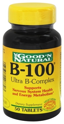 DROPPED: Good 'N Natural - B-100 Ultra B-Complex - 50 Tablets