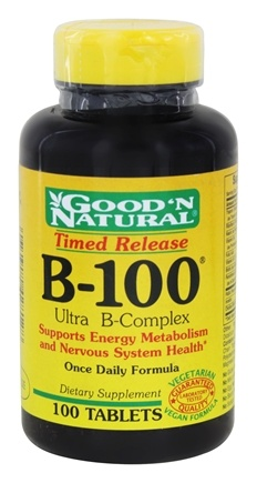 DROPPED: Good 'N Natural - B-100 Ultra B-Complex Time Release - 100 Tablets