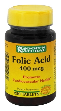 Good 'N Natural - Folic Acid 400 mcg. - 250 Tablets