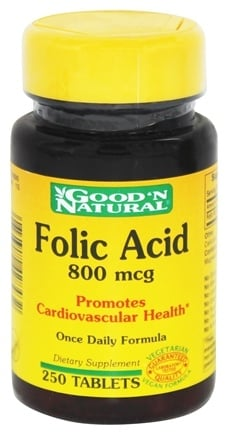 Good 'N Natural - Folic Acid 800 mcg. - 250 Tablets