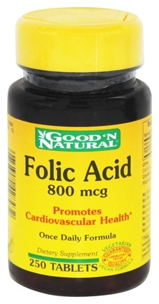 DROPPED: Good 'N Natural - Folic Acid 800 mcg. - 250 Tablets