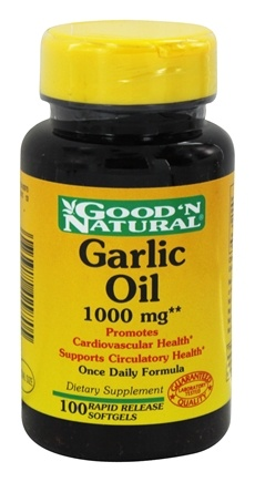 Good 'N Natural - Garlic Oil 1000 mg. - 100 Softgels