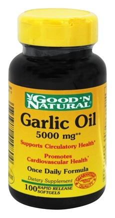 Good 'N Natural - Garlic Oil 5000 mg. - 100 Softgels