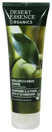 Desert Essence - Organics Thickening Shampoo Green Apple and Ginger - 8 oz.