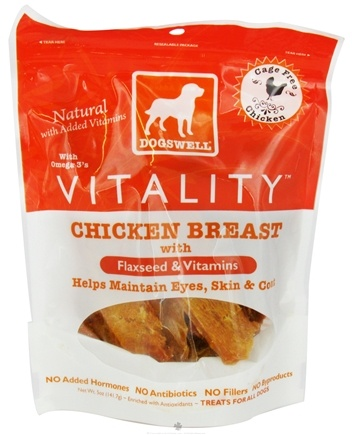 DROPPED: Dogswell - Vitality Dog Treats with Flaxseed & Vitamins Chicken Breast - 5 oz. CLEARANCE PRICED