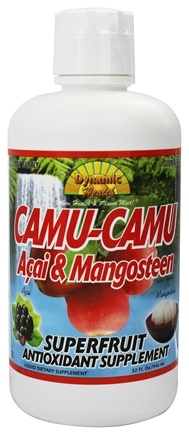 DROPPED: Dynamic Health - Camu-Camu Juice Fortified with Acai and Mangosteen - 32 oz.