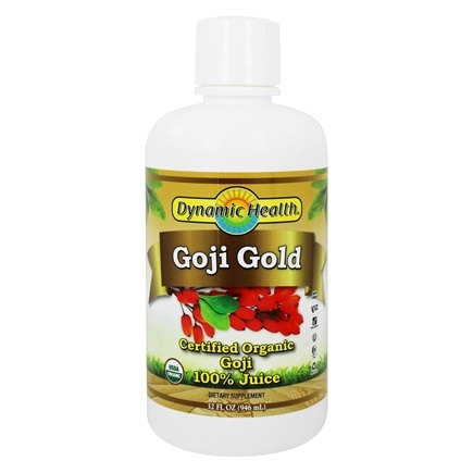 Dynamic Health - Goji Gold 100% Pure Organic Juice - 32 oz.
