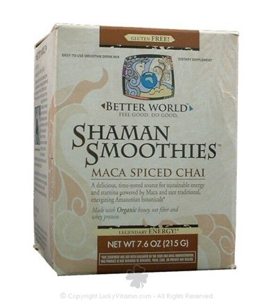 DROPPED: Enzymatic Therapy - Better World Shaman Smoothies Maca Spiced Chai Flavor - 7.6 oz.