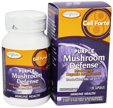 Enzymatic Therapy - Cell Forte Purple Mushroom Defense - 120 Ultracap(s)