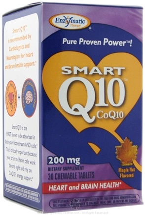 DROPPED: Enzymatic Therapy - Smart Q10 Maple Nut Flavor 200 mg. - 30 Chewable Tablets