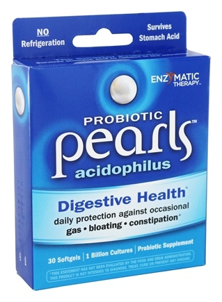 Enzymatic Therapy - Acidophilus Pearls Active Cultures - 30 Capsules