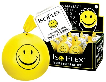 "DROPPED: Gayla - Isoflex Stress Ball ""For Stress Relief"" Smiley Face"