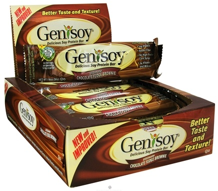 Genisoy - Soy Protein Bar Ultimate Chocolate Fudge Brownie - 1.98 oz.