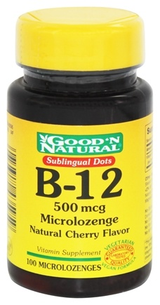 DROPPED: Good 'N Natural - Sublingual Dots B-12  Microlozenges 500 mcg. - 100 Lozenges
