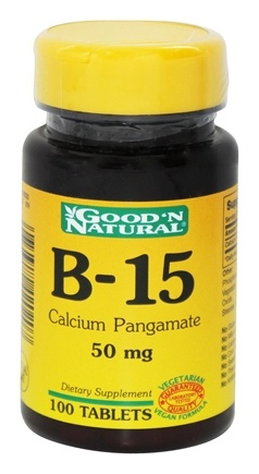 DROPPED: Good 'N Natural - B-15 Calcium Pangamate 50 mg. - 100 Tablets