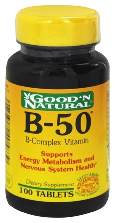 DROPPED: Good 'N Natural - B-50 B-Complex Vitamin - 100 Tablets