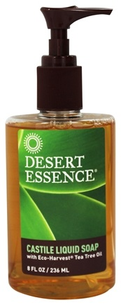 Desert Essence - Castile Liquid Soap With Eco-Harvest Tea Tree Oil - 8 oz.