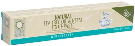 DROPPED: Desert Essence - Tea Tree Oil & Neem Toothpaste with Baking Soda & Essential Oil of Wintergreen - 3 oz.
