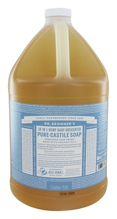 Dr. Bronners - Magic Pure-Castile Soap Organic Baby-Mild - 128 oz. - 1 Gallon