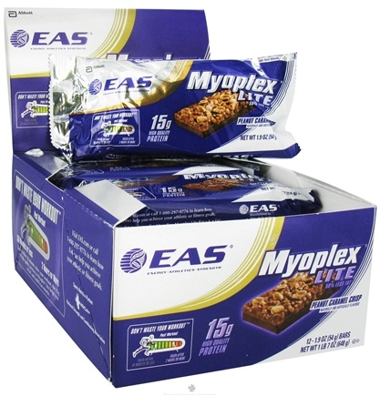 DROPPED: EAS - Myoplex Lite Protein Bar Peanut Caramel Crisp - 1.9 oz. CLEARANCE PRICED