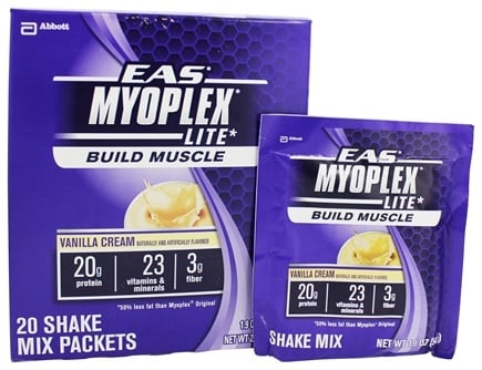 DROPPED: EAS - Myoplex Lite Powder Vanilla Cream - 20 Packet(s)