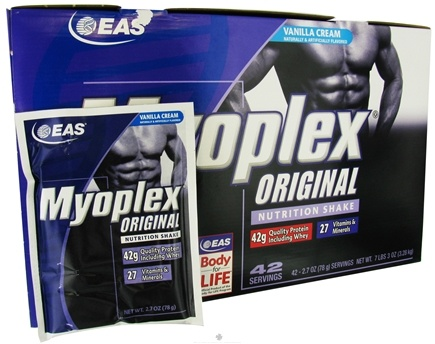 DROPPED: EAS - Myoplex Vanilla Cream - 42 Packet(s) CLEARANCE PRICED