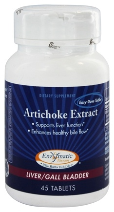 Enzymatic Therapy - Artichoke Extract - 45 Tablets