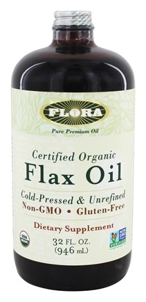 Flora - Flax Oil Certified Organic - 32 oz.