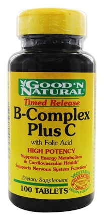 DROPPED: Good 'N Natural - B-Complex Plus C Time Release With Folic Acid - 100 Tablets