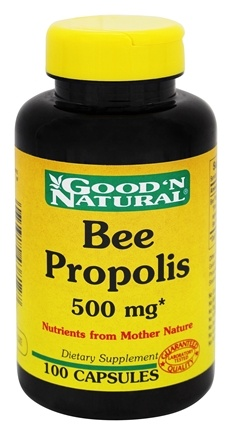 Good 'N Natural - Bee Propolis 500 mg. - 100 Capsules