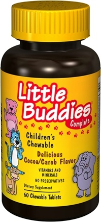 DROPPED: Good 'N Natural - Little Buddies Complete Children's MultiVitamin Cocoa/Carob Flavor - 60 Chewable Tablets CLEARANCE PRICED