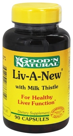 DROPPED: Good 'N Natural - Liv-A-New With Milk Thistle - 90 Capsules