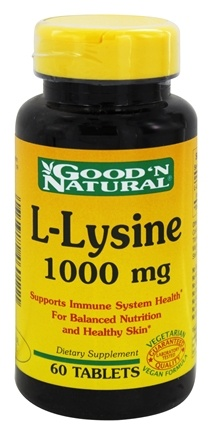 Good 'N Natural - L-Lysine 1000 mg. - 60 Tablets
