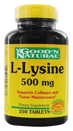 Good 'N Natural - L-Lysine 500 mg. - 250 Tablets