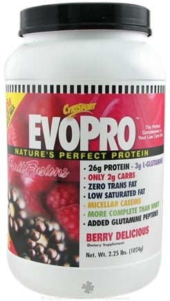 DROPPED: Cytosport - EvoPro, Low Carb Diet Protein Berry - 2.25 lbs.