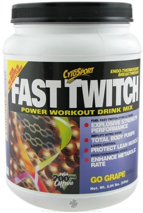 DROPPED: Cytosport - Fast Twitch Power Workout Drink Mix Go Grape - 2 lbs. CLEARANCE PRICED