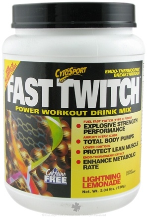 DROPPED: Cytosport - Fast Twitch Power Workout Drink Mix Lightning Lemonade - 2 lbs. CLEARANCE PRICED