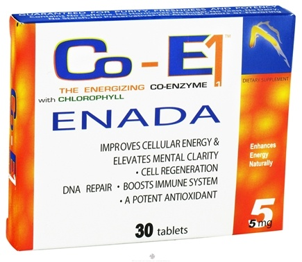 DROPPED: Dr. Birkmayer - Co-E1 Enada Vitality Plus 5 mg. - 30 Tablets CLEARANCE PRICED