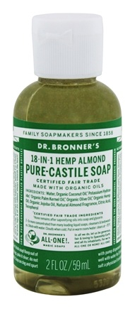 DROPPED: Dr. Bronners - Magic Pure-Castile Soap Organic Almond - 2 oz. CLEARANCE PRICED