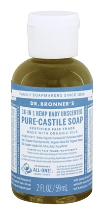 Dr. Bronners - Magic Pure-Castile Soap Organic Baby-Mild - 2 oz.