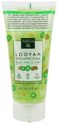 DROPPED: Earth Therapeutics - Loofah Scrub Aloe & Kiwi - 6 oz. CLEARANCE PRICED